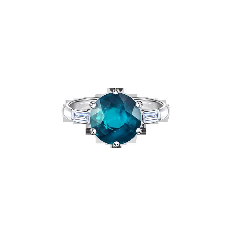 Zlatý Prsten s Turmalínem a Diamanty