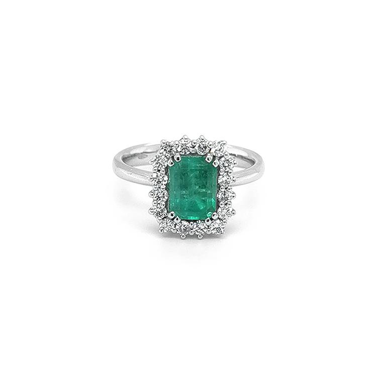 Zlatý Prsten se Smaragdem a Diamanty