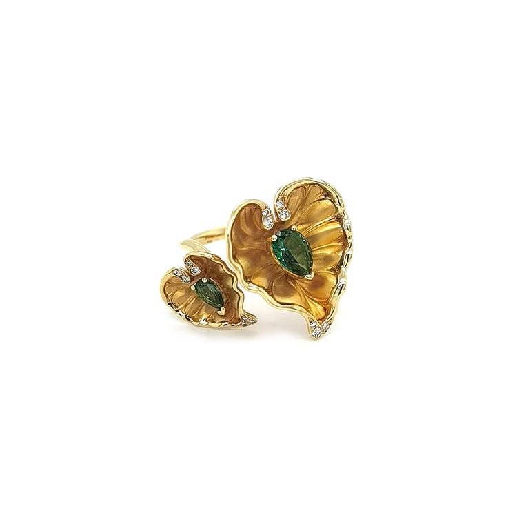 Zlatý Prsten s Lesním Topazem a Diamanty Magerit Eternal Lady Juliet