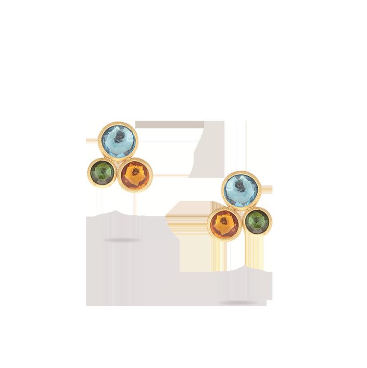 Zlaté Náušnice s Polodrahokamy Marco Bicego Jaipur