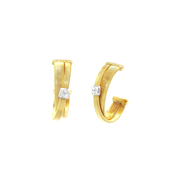 Zlaté Náušnice s Diamanty Marco Bicego Masai