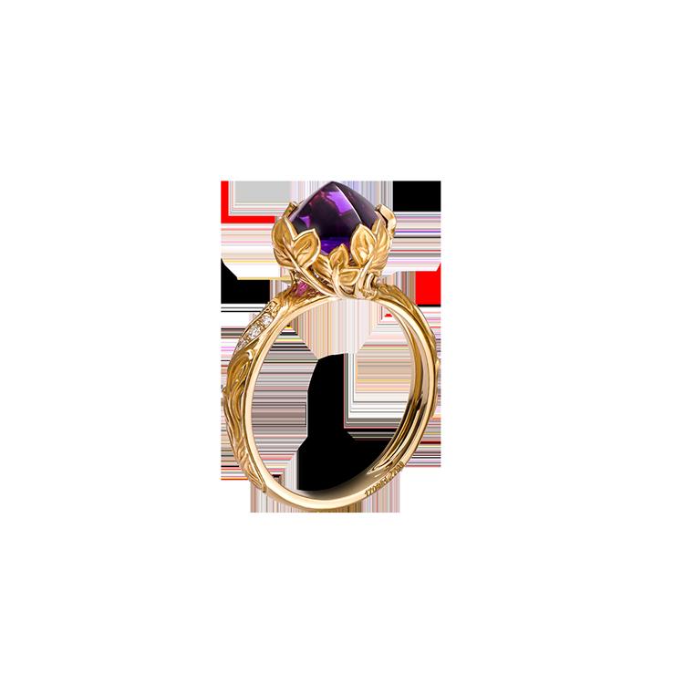 Zlatý Prsten s Ametystem a Diamanty Magerit Eternal Lia