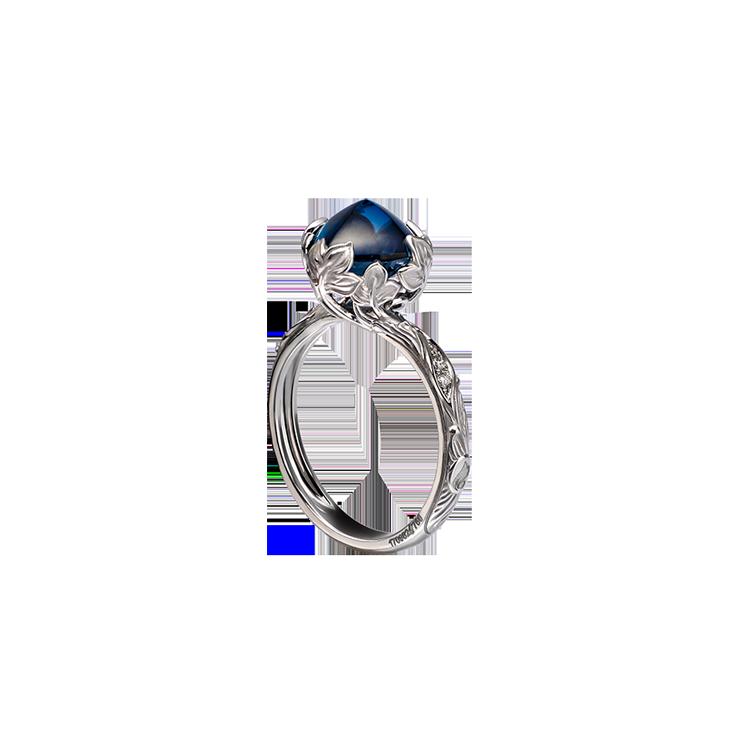 Zaltý Prsten s Modrým Topazem Magerit Eternal Lia